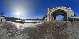 Пушкинский мост в Нескучном саду